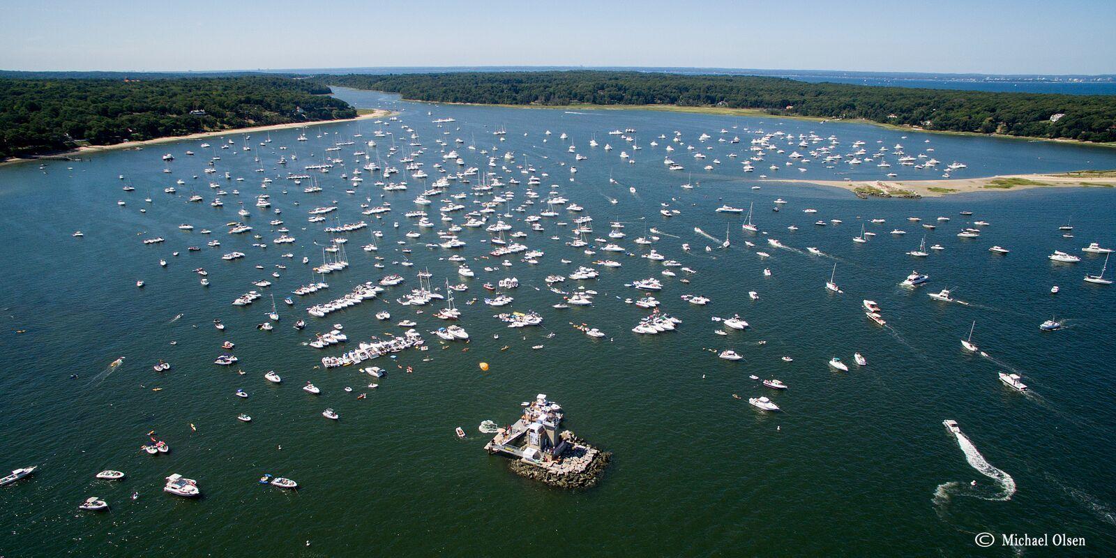 Overlooking Lloyd Harbor and the Huntington Lighthouse Photo courtesy of Michael Olsen
