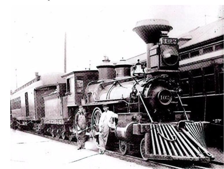 CS Railroad Train passing through Parker, CO
